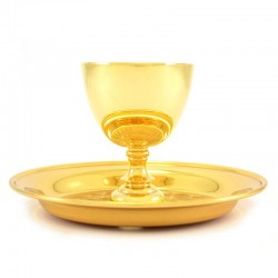 Servizio Comunione due specie in ottone dorato