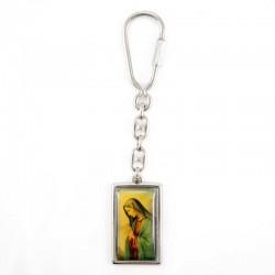 Portachiavi rettangolare Madonna Addolorata 2x9 cm
