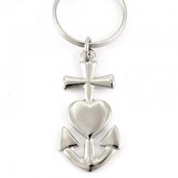 Faith Hope Charity Metal Keyring 2.5x7.5 cm