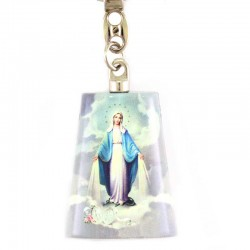 Our Lady of Miracles Roof tile Keyring 3.5x4.5 cm