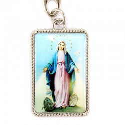 Our Lady of Miracles Keyring with Emblem 3x10 cm