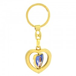 Keychain revolving heart Virgin Mystical Rose 3,3x8,5 cm