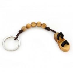 Franciscan Sandal keychain with 5 grains 1,5x3,5 cm