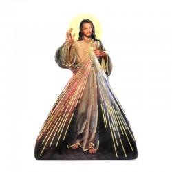Merciful Jesus magnet with prayer 5,5x7,5 cm