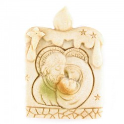 Ivory resin Candle Magnet 3.5x5 cm