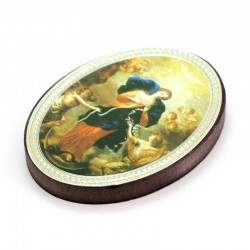 Oval Magnet Mary Untier of Knots 5.7x7.7 cm