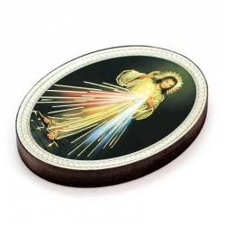 Oval Magnet Merciful Jesus 5.7x7.7 cm