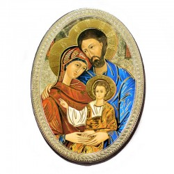 Oval Magnet Holy Family 5.7x7.7 cm