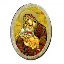 Oval Magnet Our Lady of Tenderness 5.7x7.7 cm