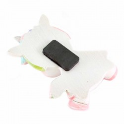 Colored Resin Funny Unicorn Magnet 7.5 cm