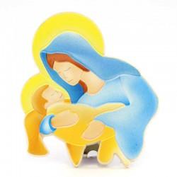 Calamita in plastica Madonna con Bambino 5x6 cm