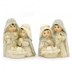 Resin Magnet with Childlike Nativity 4.5 cm