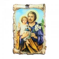 Resin magnet Saint Joseph Parchment 4.5x7 cm