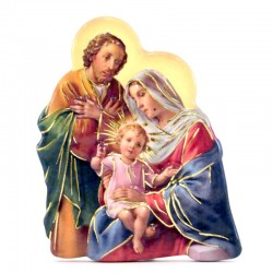 Holy Family magnet with prayer 5,5x7 cm