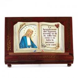 Quadretto personalizzato libro in legno 8x11,5x3,5 cm