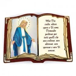 Calamita personalizzata in legno libro 6x8,5x0,4 cm