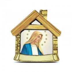 Calamita personalizzata in legno casetta 6,5x6,5x2,5 cm