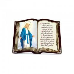 Quadretto personalizzato in legno libro 6x8,5x3 cm