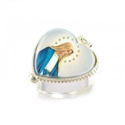 Portarosario cuore personalizzato 5,5x5x3 cm
