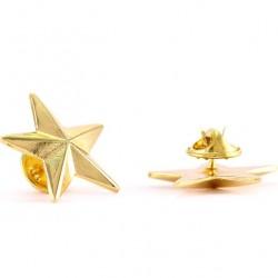 Golden Metal Brooch with Star