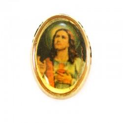 Jesus badge in gold metal 1x1,5 cm
