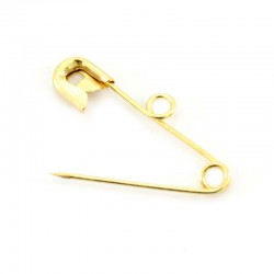 Golden safety pin 18 mm, 100 units pack