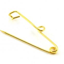 Golden Simple Brooch 100 pieces 2.5 cm