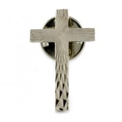 Clergyman Silvery Cross with Brooch 1.8x2.5 cm