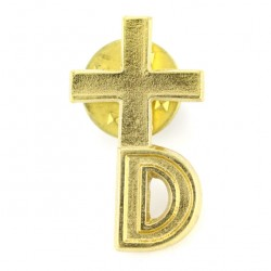 Clergyman Golden Cross for Deacons 1.4x2.5 cm