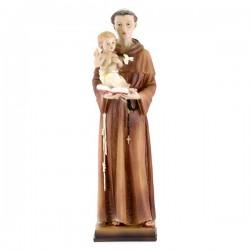 Statua Sant'Antonio resina colorata 30 cm