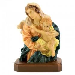 Statua mezzo busto Madonna con Bambino 13 cm