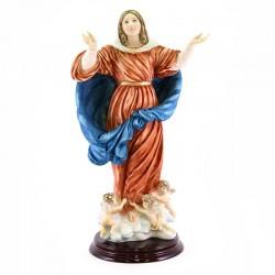 Statua Madonna Assunta in resina colorata 40 cm