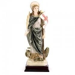 Statua Santa Marta in resina colorata 26 cm