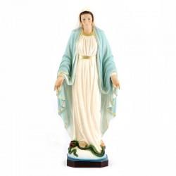 Statua Madonna Miracolosa resina patinata 30 cm