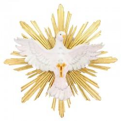 Spirito Santo con raggiera in legno Diametro 62 cm