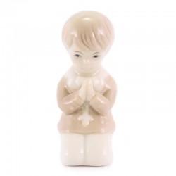 Bomboniera Bimbo in preghiera porcellana 8,3 cm