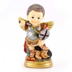 Statua San Michele Arcangelo baby 9 cm