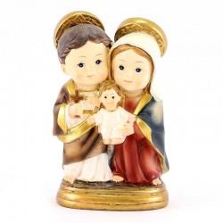 Statua Sacra Famiglia baby 9 cm