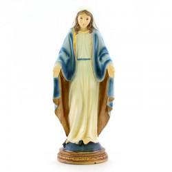Statua Madonna Miracolosa in resina colorata 30 cm