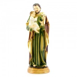 Statua San Giuseppe in resina colorata 30 cm
