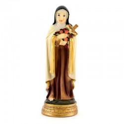 Statua di Santa Teresina del Bambino Gesù resina colorata 13 cm