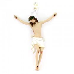 Corpo di Cristo in resina piena colorata 50 cm