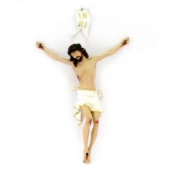 Corpo di Cristo in resina piena colorata 40 cm
