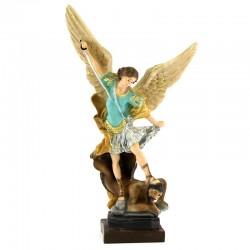 Statua San Michele Arcangelo in resina colorata 22 cm