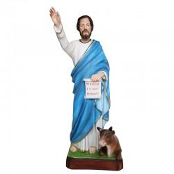 Statua San Luca Evangelista in resina colorata 40 cm