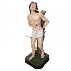 Statua San Sebastiano in resina colorata 60 cm