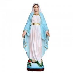 Statua Madonna Miracolosa in resina colorata 80 cm