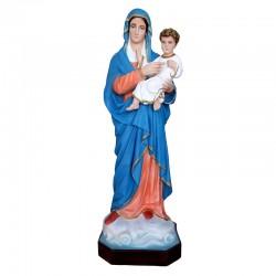 Statua Madonna con Bambino in resina colorata 95 cm