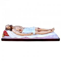 Statua Cristo Morto in vetroresina dipinta 160 cm
