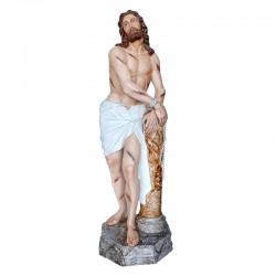 Statua Cristo alla Colonna in vetroresina dipinta 180 cm